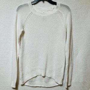 Aeropostale White Knit Crew Neck Sweater